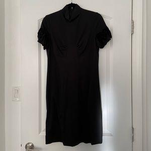 Jon high neck black dress